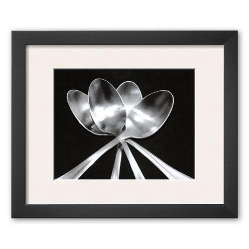 Art.com Spoons Framed Art Print by Mike Feeley