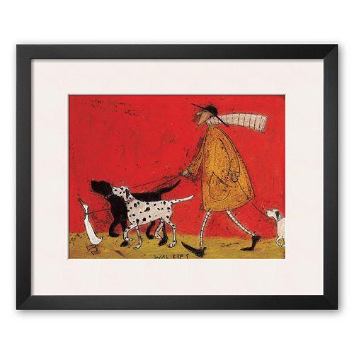 "Art.com ""Walkies"" Framed Art Print By Sam Toft"