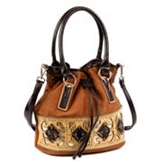 Nicole Lee Lizeth Laser-Cut Geometrics Bucket Bag