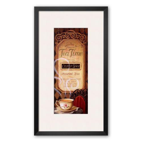 Art.com Tea Time Menu Framed Art Print by Lisa Audit