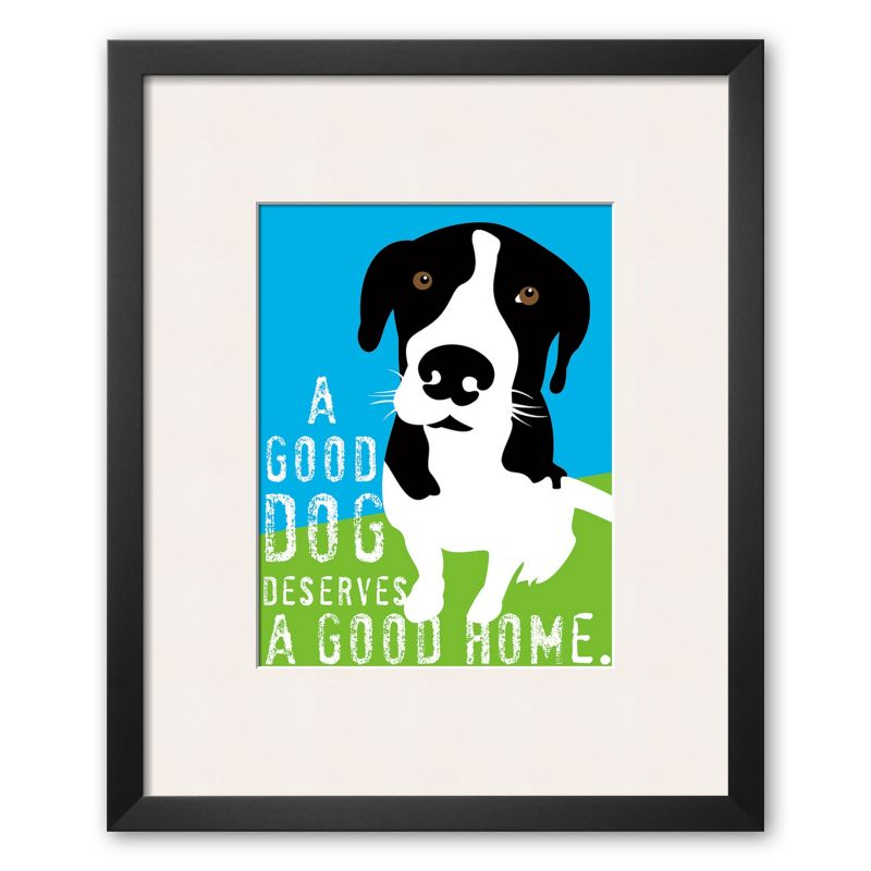 "Art.com ""A Good Dog"" Framed Art Print by Ginger Oliphant"