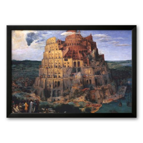 Art.com The Tower of Babel, c.1563 Framed Art Print by Pieter Bruegel the Elder