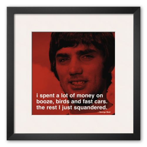 Art.com George Best: Money Framed Art Print