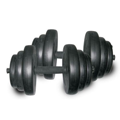 Sunny Health and Fitness 40-lb. Vinyl Dumbbell Set