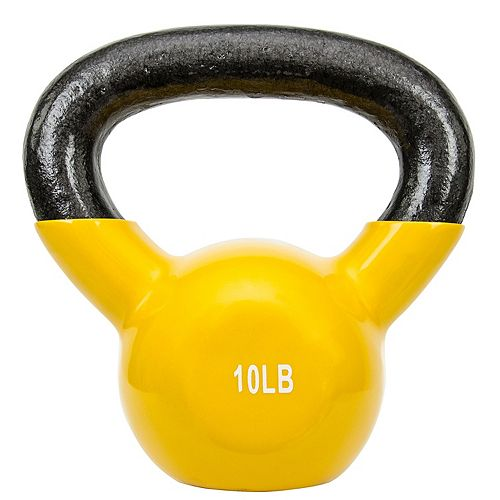 Sunny Health & Fitness Vinyl-Coated 10-Pound Kettlebell Weight (No. 066-10)