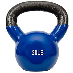 Sunny Health & Fitness Vinyl-Coated 20-Pound Kettlebell Weight (No. 066-20)