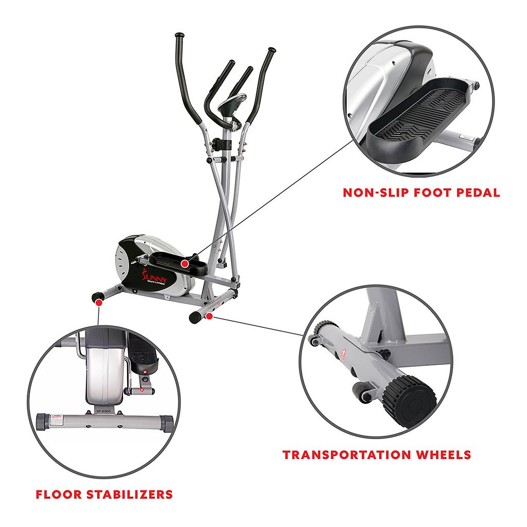 Sunny Health & Fitness Magnetic Elliptical Trainer (SF-E905)