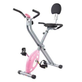 Sunny Health & Fitness Folding Pink Recumbent Bike (SF-RB1117)