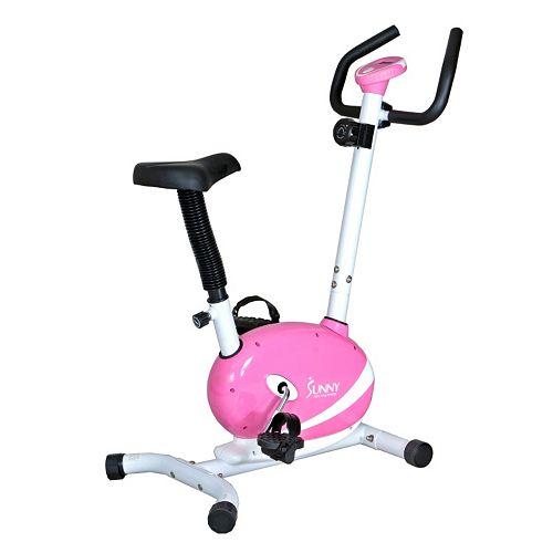 Sunny Health & Fitness Pink Magnetic Upright Bike