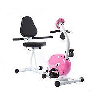 Sunny Health & Fitness Pink Magnetic Recumbent Bike (P8400)