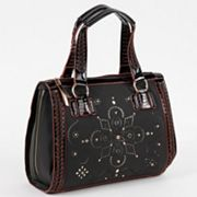 Nicole Lee Kiana Laser Cut Flower Mandala Satchel