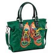 Nicole Lee Tori Patchwork Oxford Convertible Tote