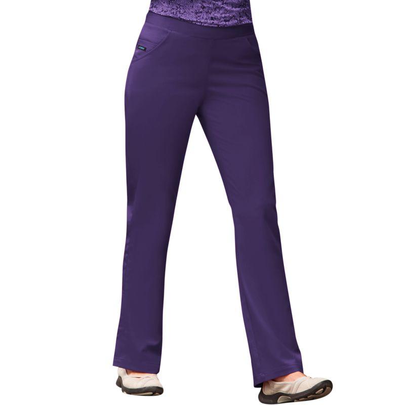 Jockey Scrubs Ladies Smart Pants - Petite (Purple)