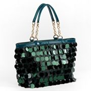 Nicole Lee Jubilee Sequined and Scaled Tote