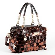 Nicole Lee Jubilee Sequined and Scaled Satchel