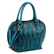 Nicole Lee Yanel Woven Streams Convertible Shoulder Bag