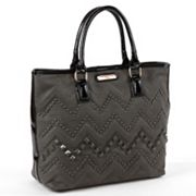 Nicole Lee Misha Studded Chevron Tote