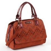 Nicole Lee Misha Studded Chevron Convertible Satchel