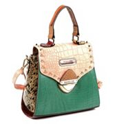 Nicole Lee Mallory Mix Match Colorblock Convertible Satchel
