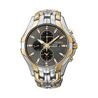 Seiko Men's Two Tone Stainless Steel Chronograph Solar Watch - SSC138