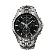Seiko Solar Two Tone Stainless Steel Chronograph Watch - SSC139 - Men