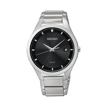 Seiko Men's Stainless Steel Solar Watch - SNE241
