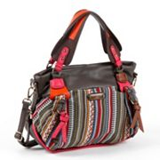 Nicole Lee Dreah Striped Works Convertible Shoulder Bag