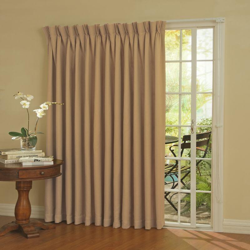 eclipse Blackout Thermal Patio Door Curtain Panel - 100'' x 84'' (Beige/Khaki)