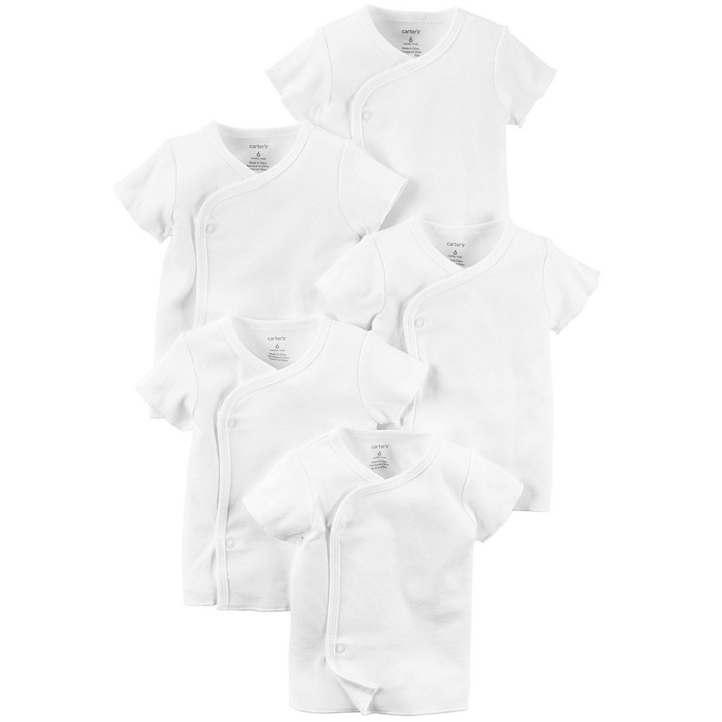 Baby Carter's 5-pk. Solid Side-Snap Tees