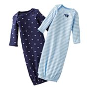 Carter's 2-pk. Striped and Elephant Sleeper Gowns - Preemie