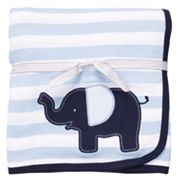 Carter's Elephant Striped Blanket