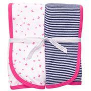 Carter's 2-pk. Stripe and Butterfly Swaddle Blankets