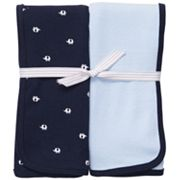 Carter's 2-pk. Solid and Elephant Swaddle Blankets