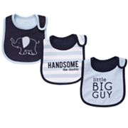Carter's 3-pk. Elephant, Stripe and Solid Teething Bibs