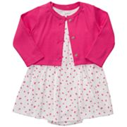 Carter's Butterfly Bodysuit Dress and Cardigan Set - Baby
