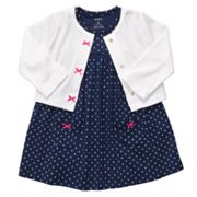 Carter's Dot Bodysuit Dress and Cardigan Set - Baby