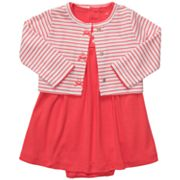 Carter's Bodysuit Dress and Striped Cardigan Set - Baby