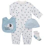 Carter's Elephant Convertible Sleeper Gown Set - Baby