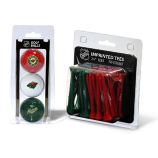 Team Golf Minnesota Wild Ball and Tee Set
