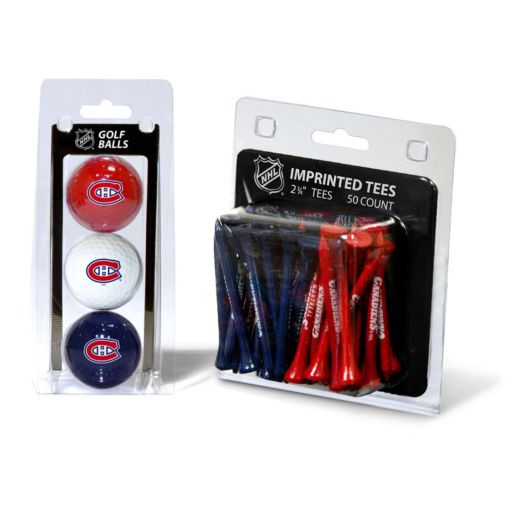 Team Golf Montreal Canadiens Ball and Tee Set
