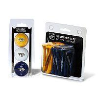 Team Golf Nashville Predators Ball & Tee Set