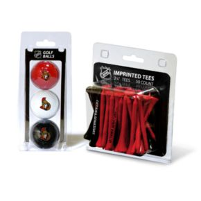 Team Golf Ottawa Senators Ball and Tee Set