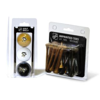 Team Golf Pittsburgh Penguins Ball and Tee Set