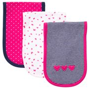 Carter's 3-pk. Dot, Butterfly and Stripe Burp Cloths