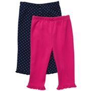 Carter's 2-pk. Solid and Dotted Pants - Baby