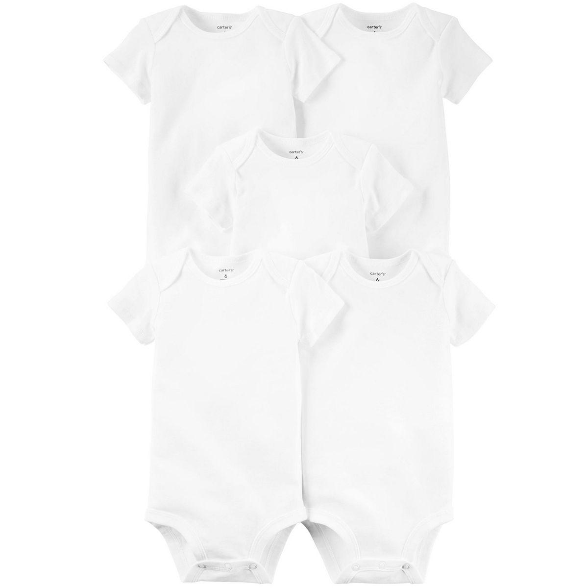 Carter's Plain white baby onesies