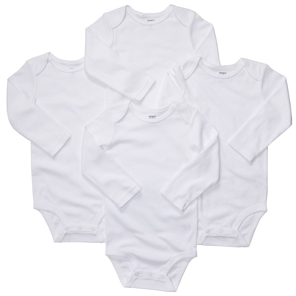 Baby Carter's 4-pk. The Original Bodysuit Solid Bodysuits