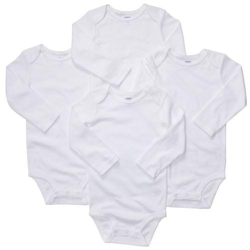 Carter's 4-pk. Solid Bodysuits - Baby