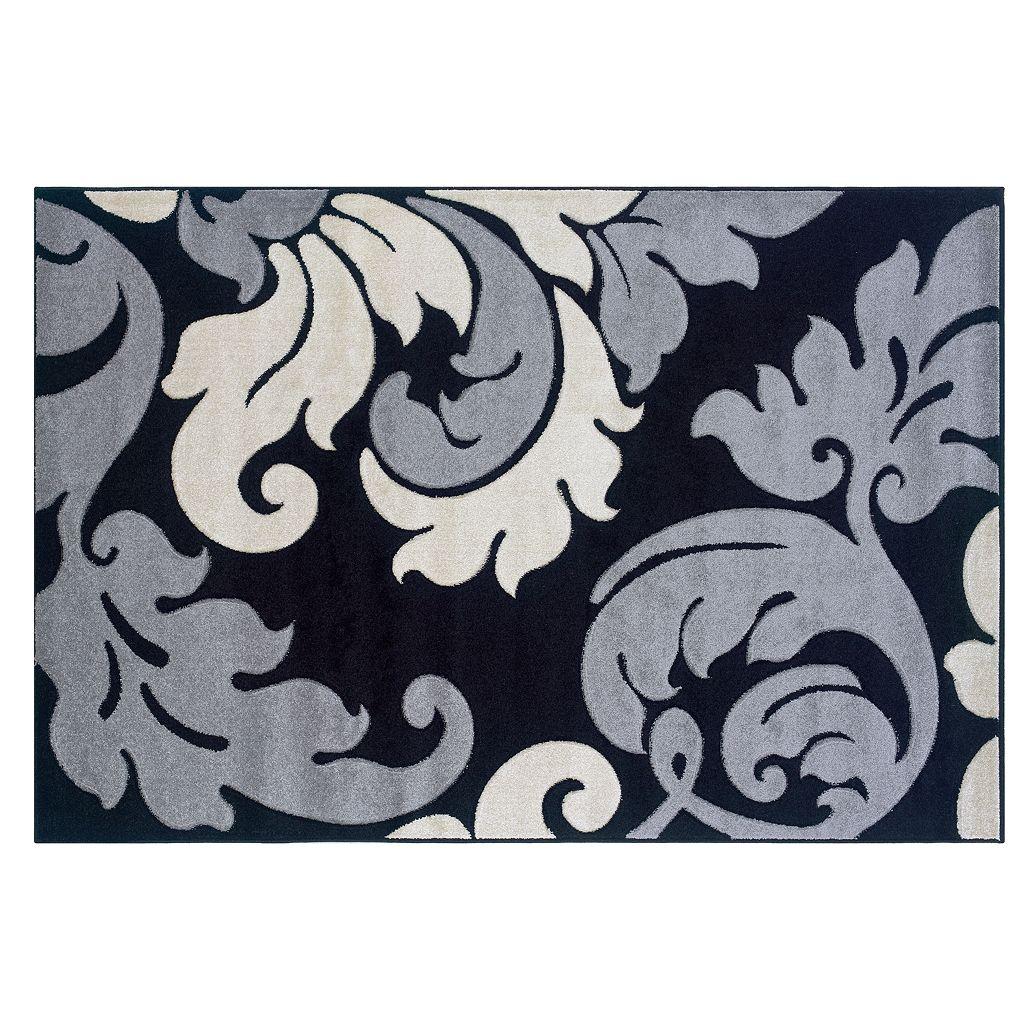 Linon Corfu Collection Leaves Rug - 1'10'' x 2'10''