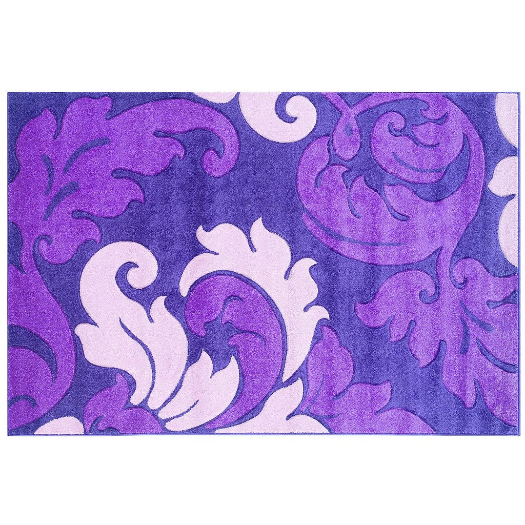 Linon Corfu Collection Leaves Rug - 1'10'' x 2'10''